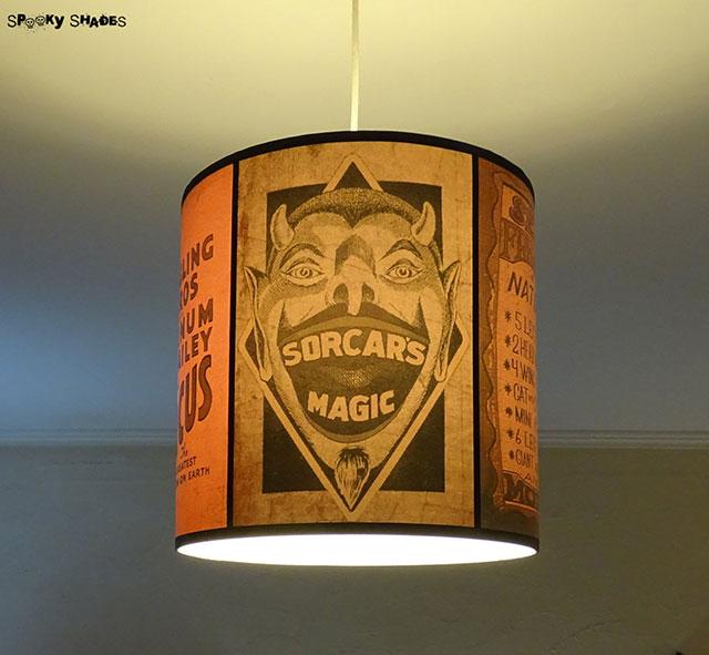 Circus sideshow lampshade