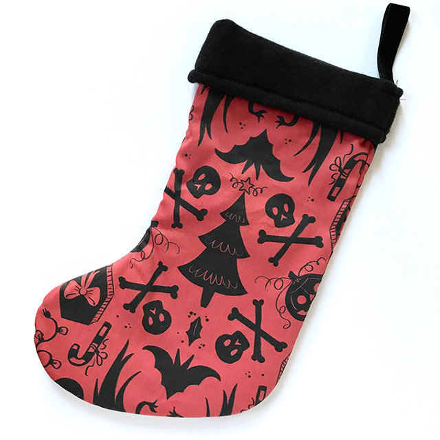 Haunted holiday stocking