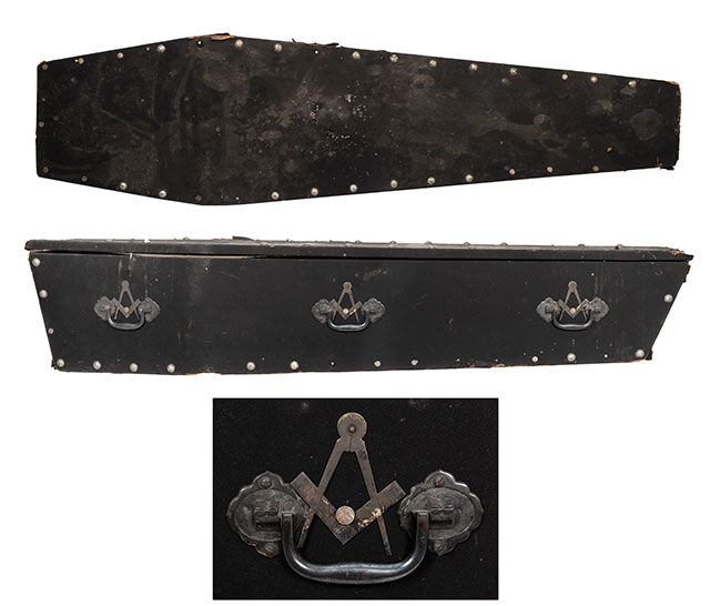 Masonic coffin