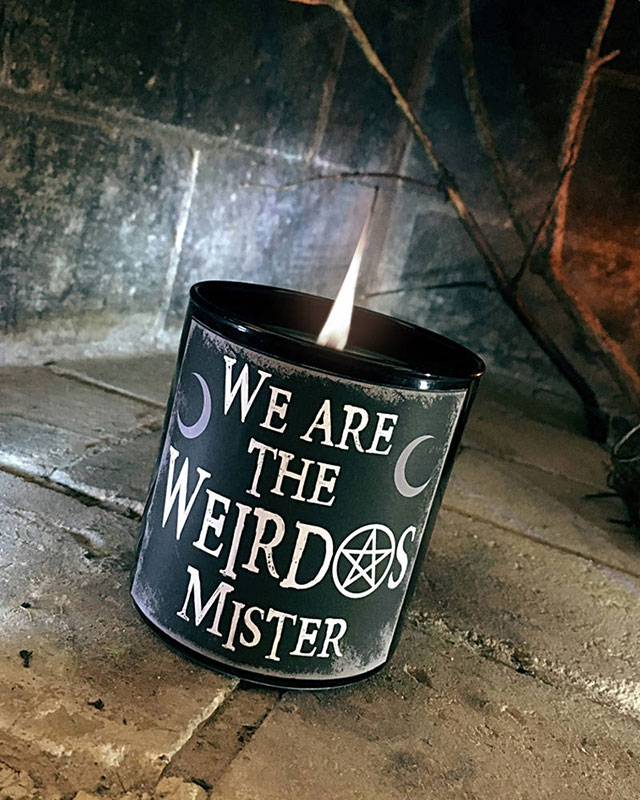 We are the weirdos candle by SickWix