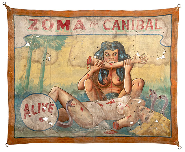 Zoma the Cannibal sideshow banner