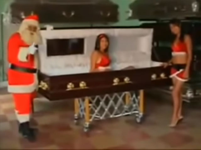 Sexy funeral home Christmas commercial