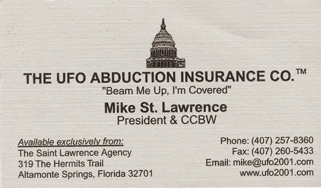 UFO Abduction Insurance Company