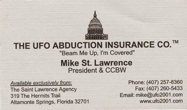 UFO Abduction Insurance Company