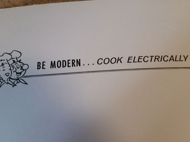Cook electrically 1957 cook book