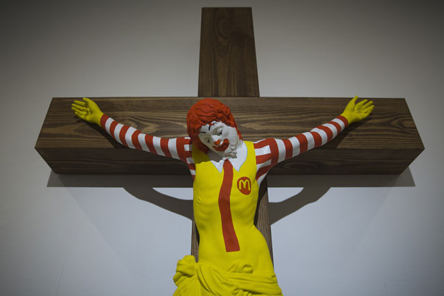 McJesus sculpture