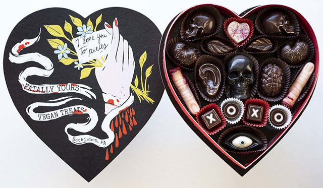 Fatally Yours morbid Valentines chocolates
