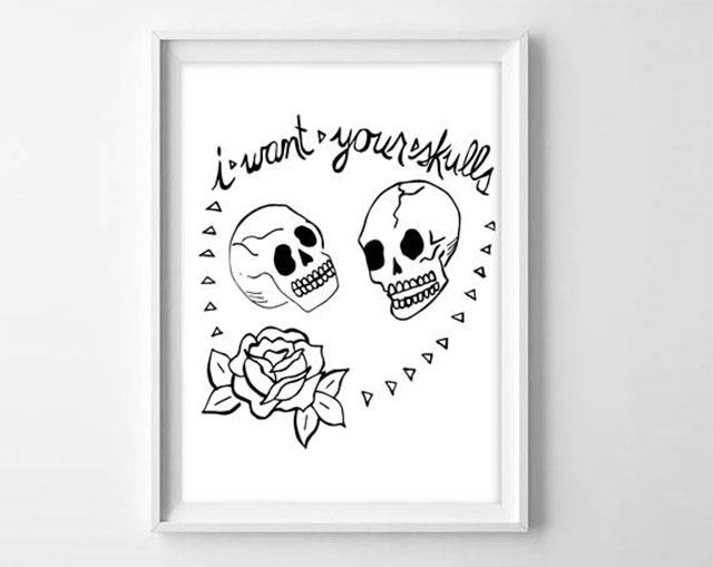 Misfits I want your skulls print