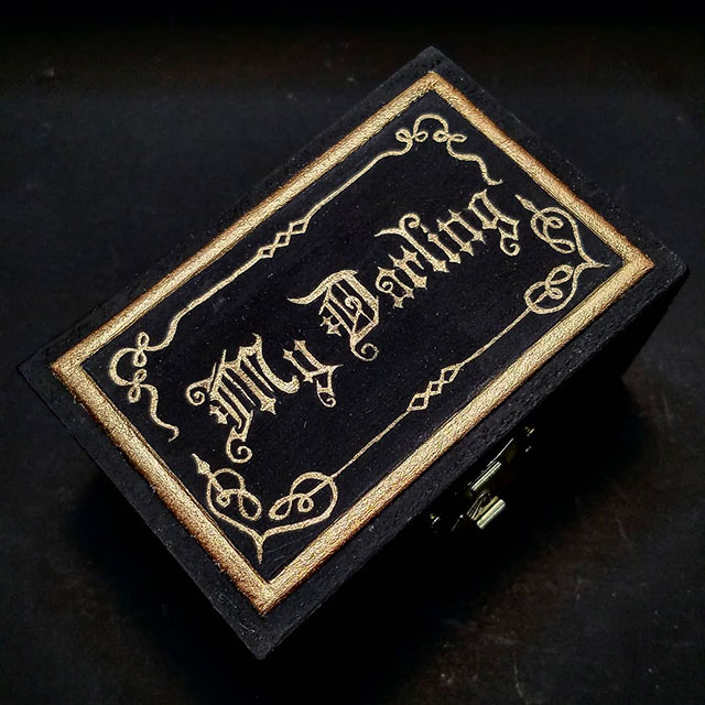 My Darling Valentine trinket boxes by Meagan Meli