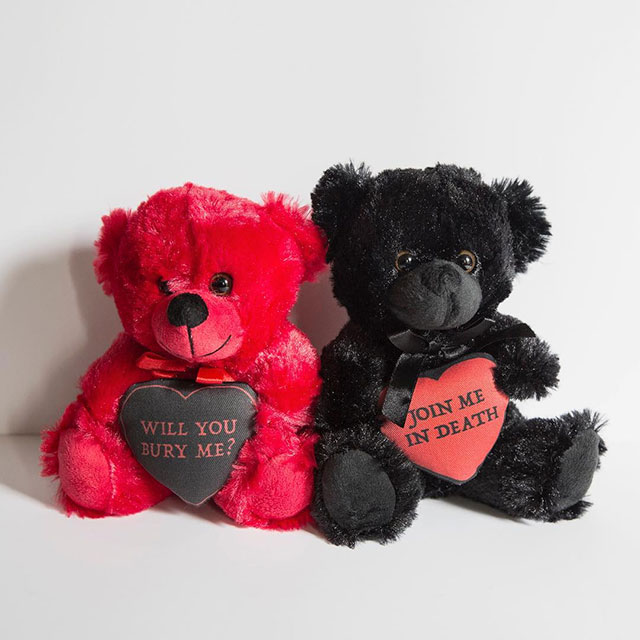 Spooky love plush bears from KMSxCo