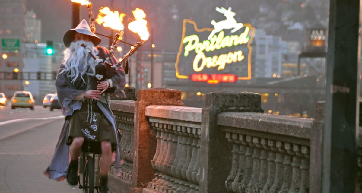 The Unipiper keeps Portland weird