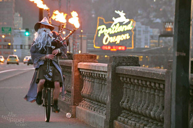 The Unipiper works to keep Portland weird
