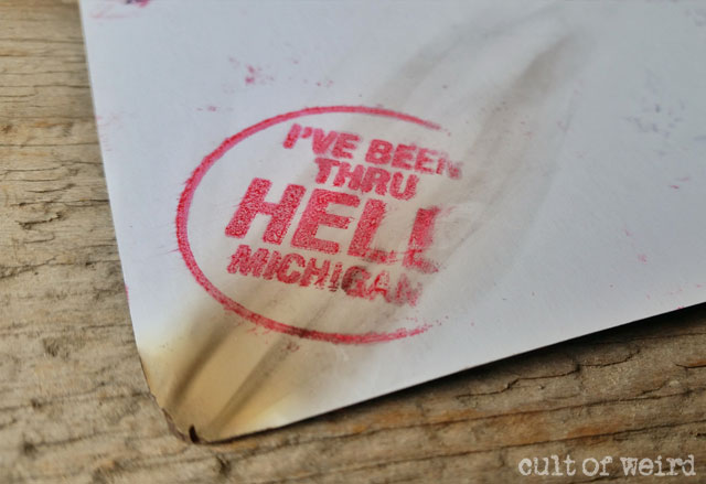 Postcards from Hell get a bit singed
