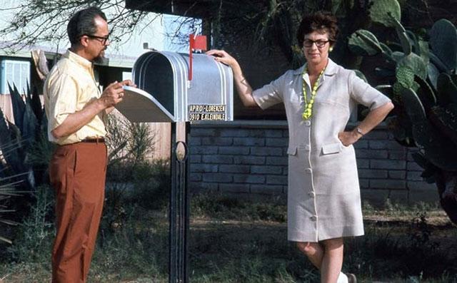 UFO researchers Jim and Coral Lorenzen at APRO headquarters