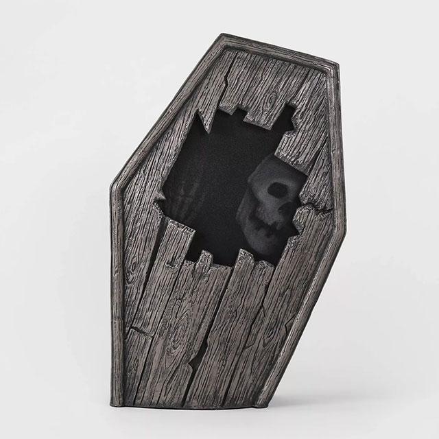Coffin Halloween decor
