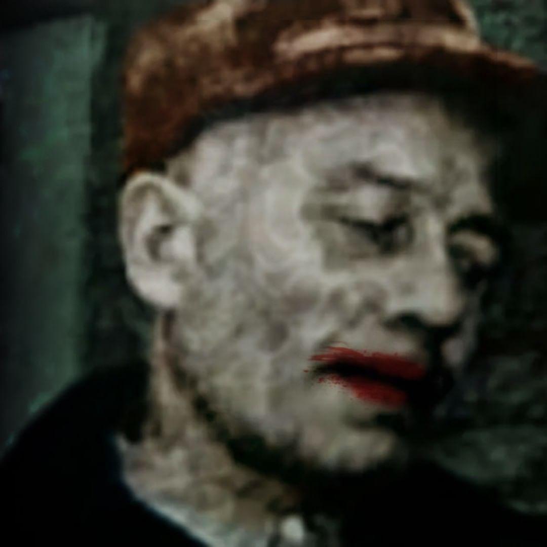 Ed Gein wearing lipstick
