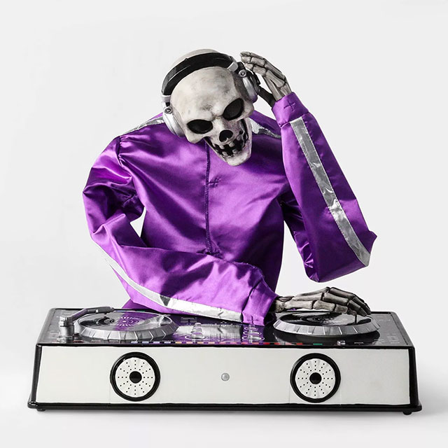 Skeleton DJ Halloween decor