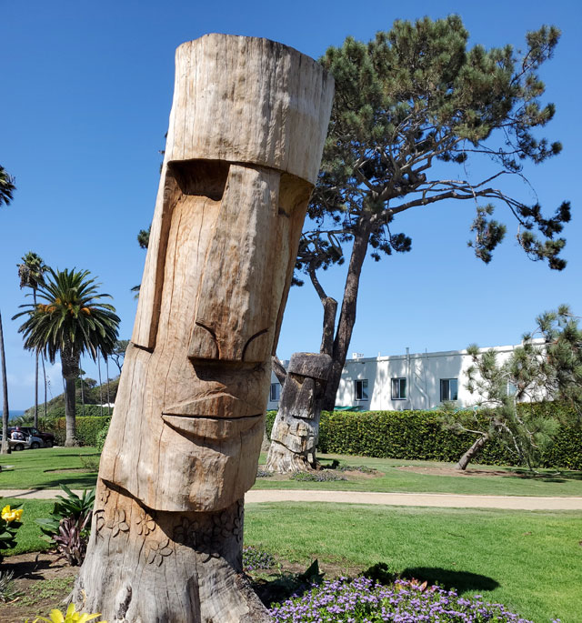Easter Island heads at Swami's Beach in Encinitas