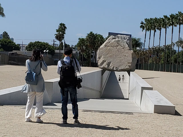 Levitated Mass art installation at the Los Angeles County Museum of Art
