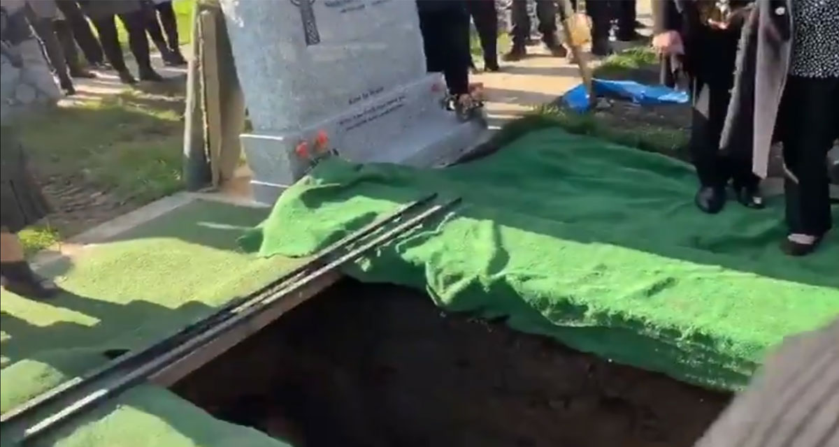 Man gets the last laugh at his funeral