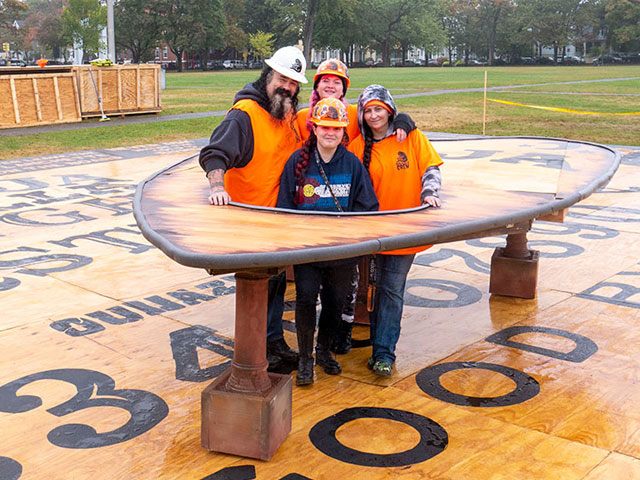 OuijaZilla, the world's largest Ouija board, was unveiled in Salem