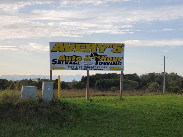 Avery's Auto Salvage sign