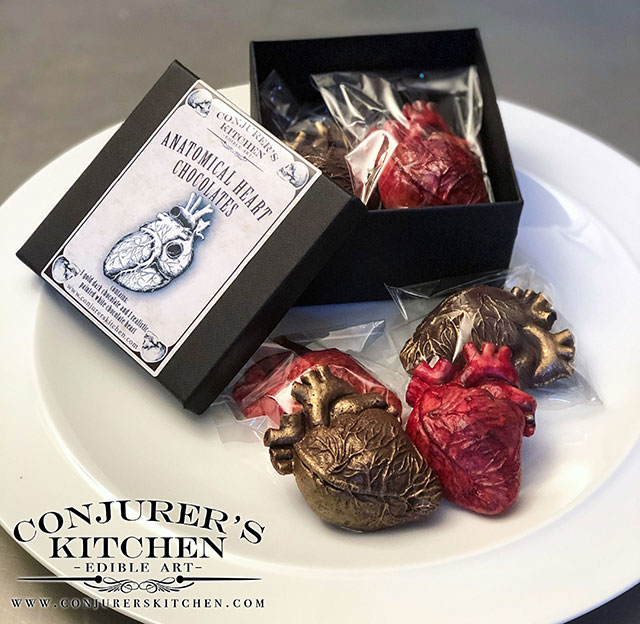 Chocolate anatomical hearts by Conjurer's Kitchen
