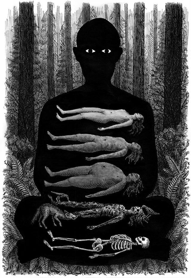 Corpse Meditation art print by Landis Blair