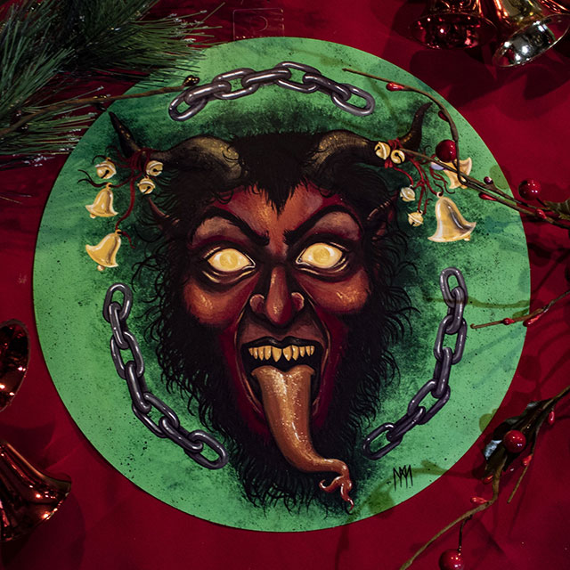 Krampus art by Meagan Meli