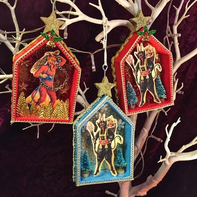 Krampus Christman ornaments