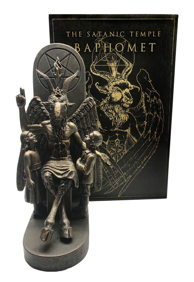 Baphomet statue from the Satanic Temple