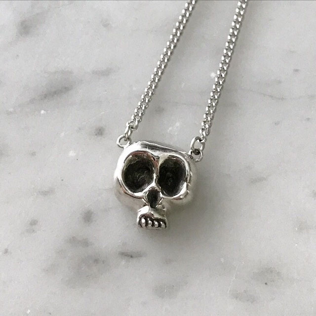 Skull necklace from Leviticus Jewlery