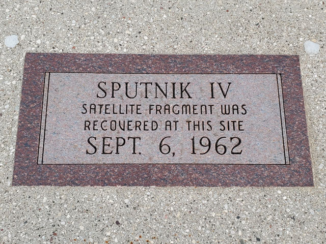 Sputnik crashed here in Manitowoc, Wisconsin