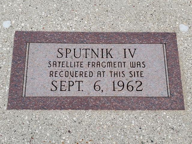 Sputnik crashed here in Manitowoc, Wisconsin