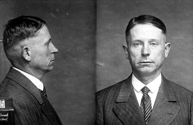 Mugshot of German serial killer Peter Kurten