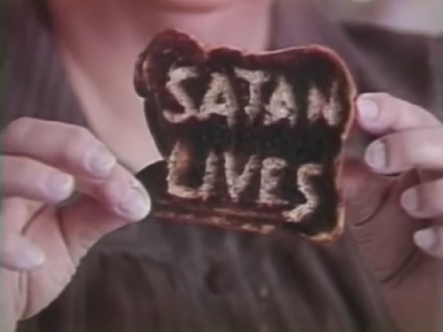 Satanic toast made by a haunted toaster
