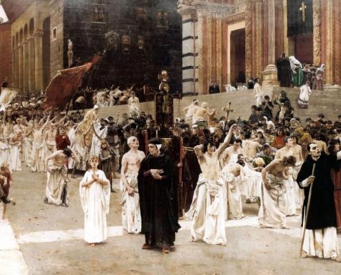 The Flagellants by Carl von Marr, 1889