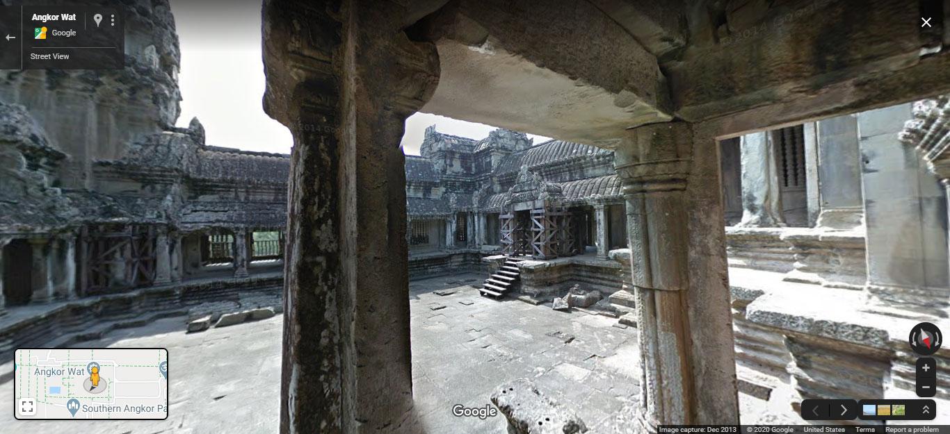 Virtual tour of Angkor Wat on Google Street View