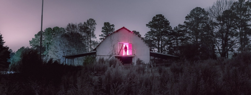 Eerie nighttime photography by Briscoe Park