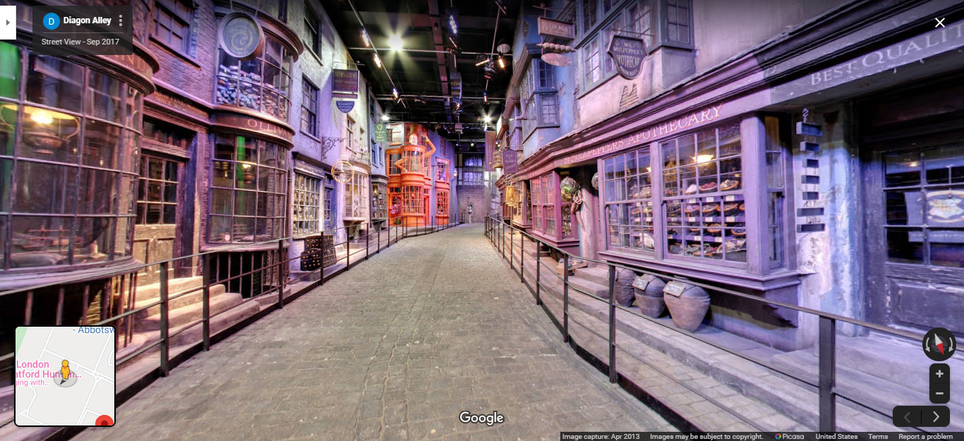 Diagon Alley virtual tour from the Warner Bros. Studio Tour in London