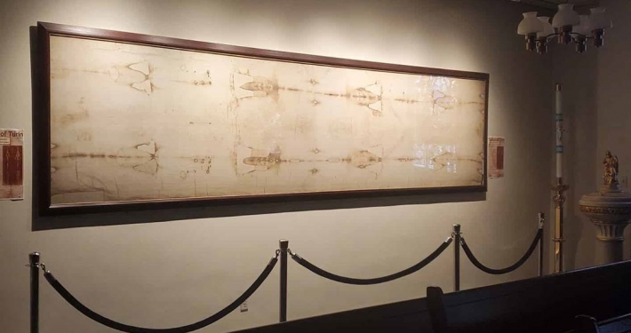 Shroud of Turin replica at Holy Hill