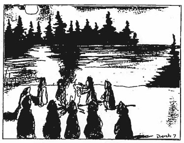 A ritual witnessed on the shore of Whitewater Lake in 1992