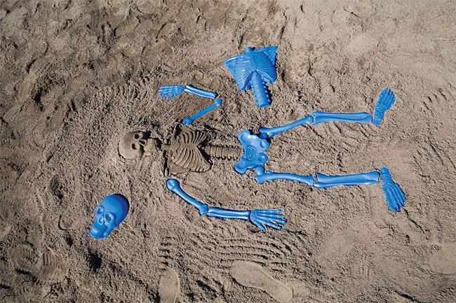 Beach Bones sand skeleton