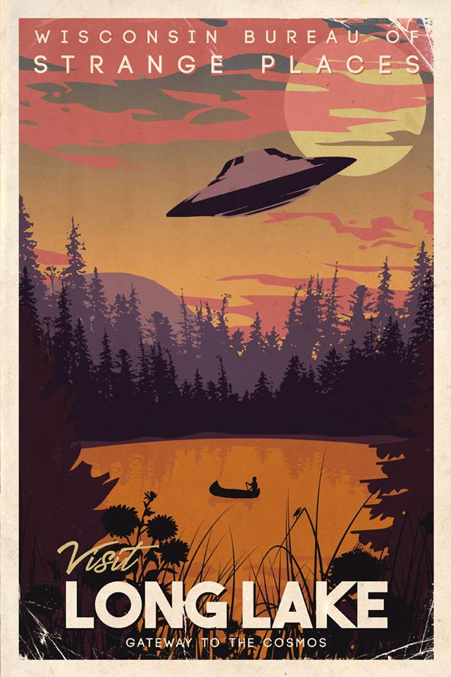 Dundee UFO travel poster