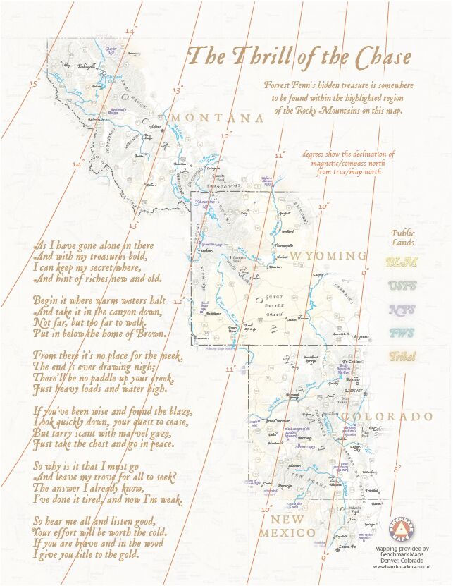 Map to Fenn's Treasure