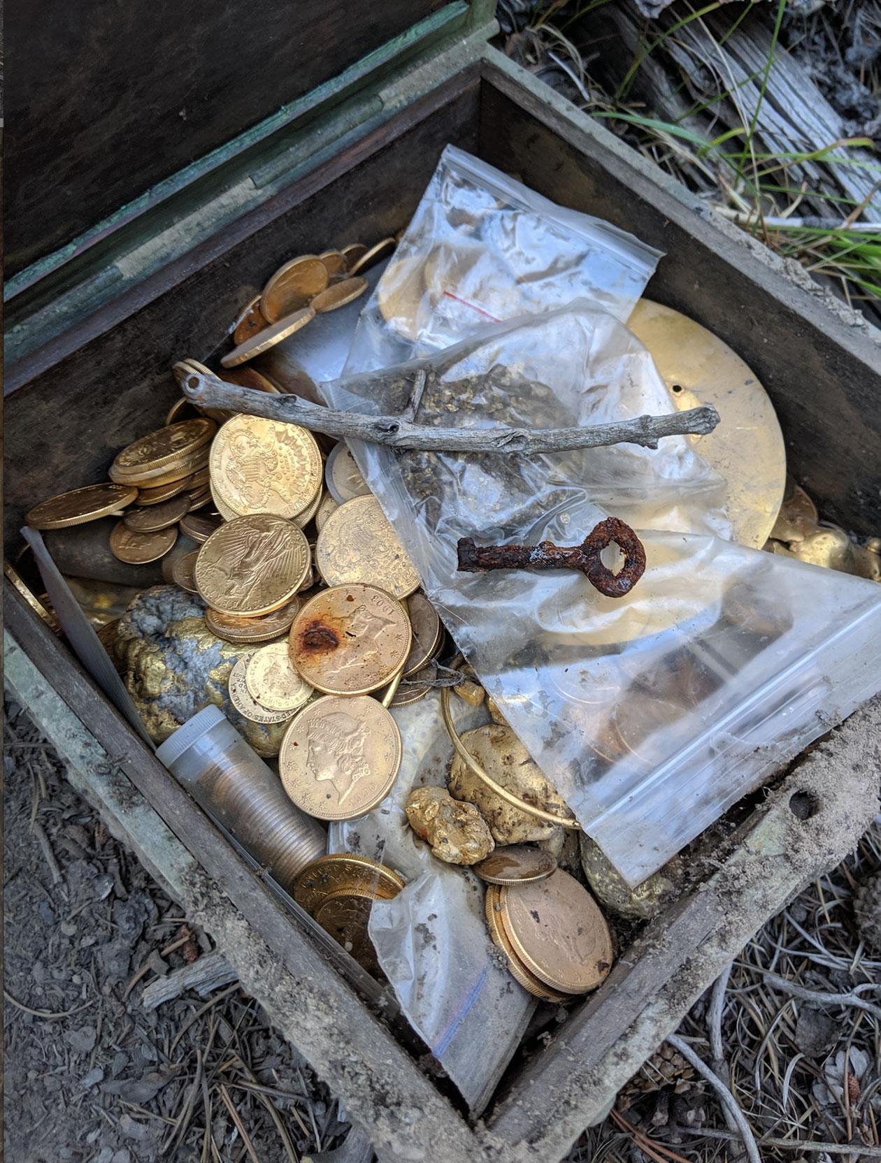 A photo proving Fenn's treasure has been found