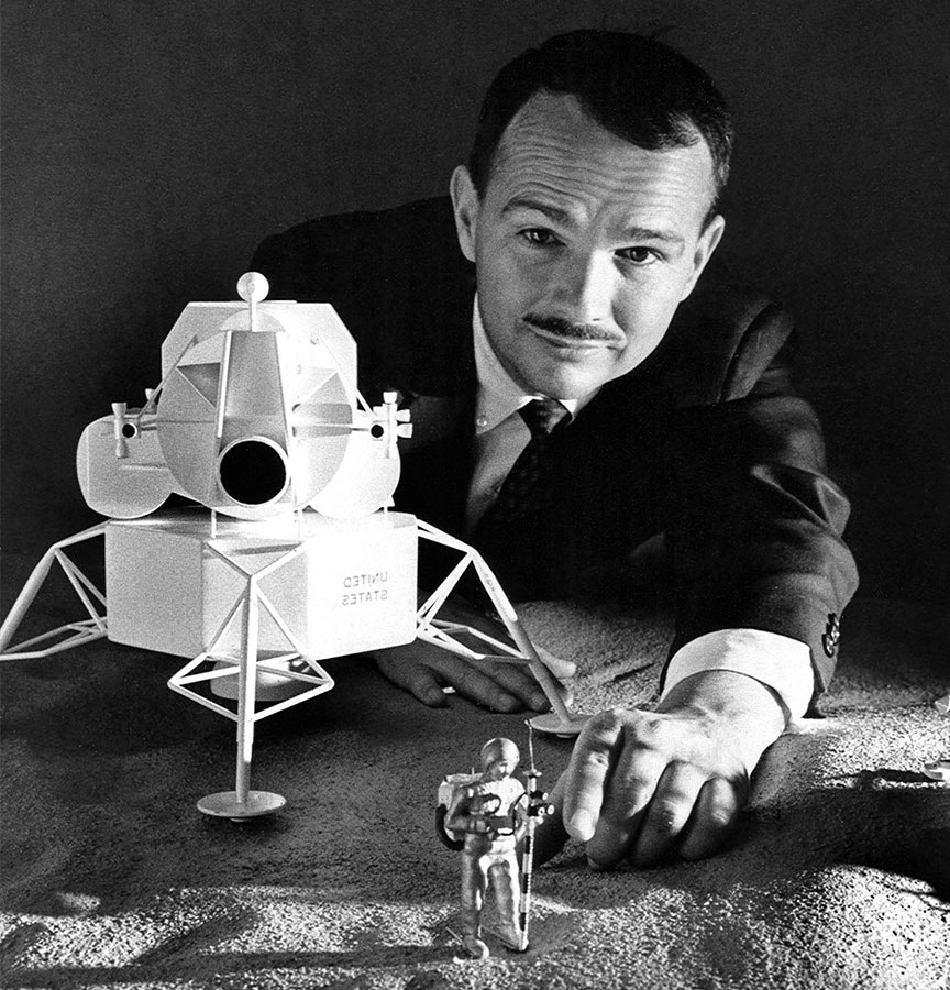 Eugene Shoemaker is the first man buried on the Moon