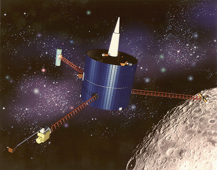 NASA Lunar Prospector spacecraft launched January 6, 1998
