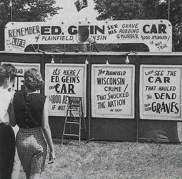 Ed Gein's car at a carnival in Wisconsin, 1958