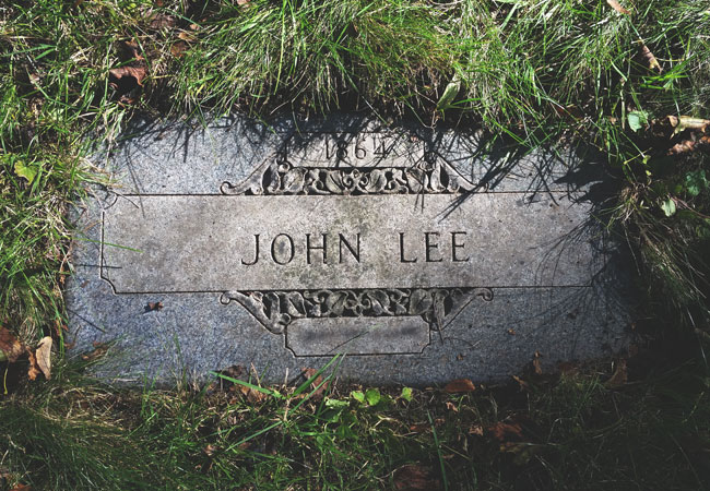 "Grave of John ""Babbacombe"" Lee in Forest Home Cemetery, Milwaukee"